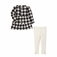 Black and White Plaid Tunic and Legging Set at www.Little-Minnows.com