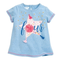 "Girls' ""Four & Fearless"" Birthday Shirt"