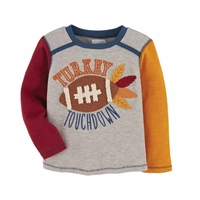 Turkey Touchdown Thanksgiving Tee at www.Little-Minnows.com