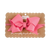 Girls' Elastic Hot Pink Bow Headband Available at Little-minnows.com