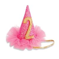 Birthday Girl Glitter Party Hat Clip Little-Minnows.com