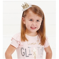 Girls' Glitter Crown Headband at Little-Minnows.com