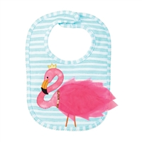 Baby Girl Bib Pink Flamingo Little-Minnows.com
