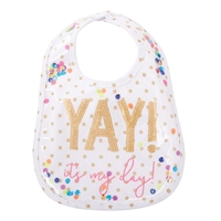 Baby Girl Birthday Bib Little-Minnows.com