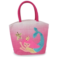 Pink Mermaid Ombre Tote at little-minnows.com