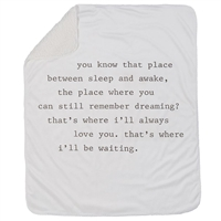 Sentiment Dreaming Sherpa Blanket at Little-Minnows.com