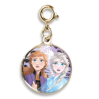 Charm Gold Elsa and Anna Locket