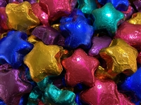 Dark Chocolate Stars (foil wrapped in bright colors)