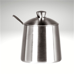 Sugar Bowl w/ Spoon, Brushed Finish, 10 fl. oz.