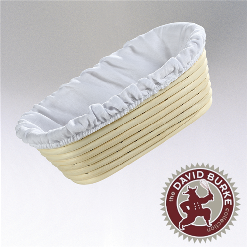 "Chef Burke Collection Oval Brotform with Liner, 10""x7"""