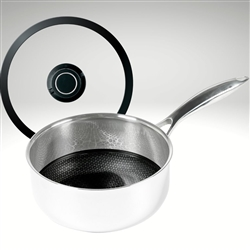 "Black Cubeâ""¢ Sauce Pan with Lid, 8"" diameter (2.5 qt.)"