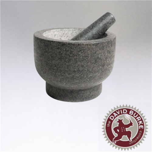 Cilio by Frieling, Goliath Natural Granite Mortar and Pestle Set, 5in Tall, Gray