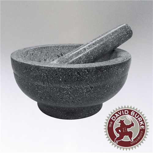 "Image of the ""Giant"" mortar and pestle featured in the Chef David Burke Collection."
