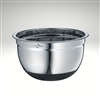 Image of the Kuchenprofi stainless steel non slip mixing bowl, additional images of the mixing bowl being used.