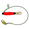 6' Coated Cable Lanyard with Removable Flame Retardant Shock Pack Cover