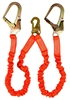 Guardian Double Shock Absorbing Strecth Lanyard with Rebar Hooks - 01298