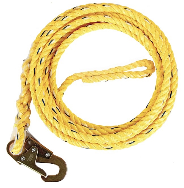 Vertical Lifeline Rope with snap hook | Rope Lanyard | Harness Land
