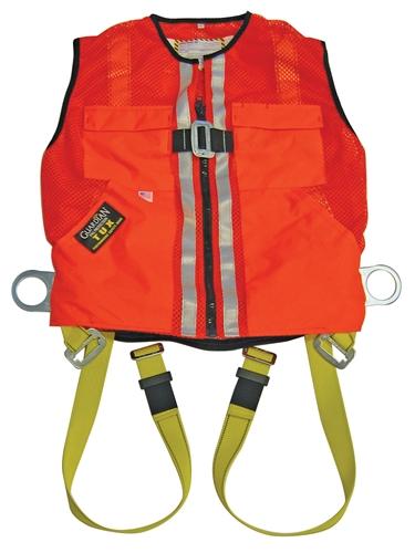 Orange Mesh Construction Tux Harness