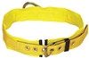 "Tongue Buckle Belt with Back D-ring and 3"" Pad - Large 