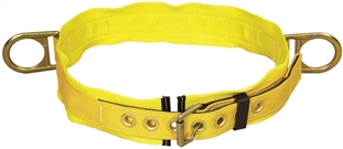 "Tongue Buckle Belt with Side D-ring and 3"" Pad - Medium 