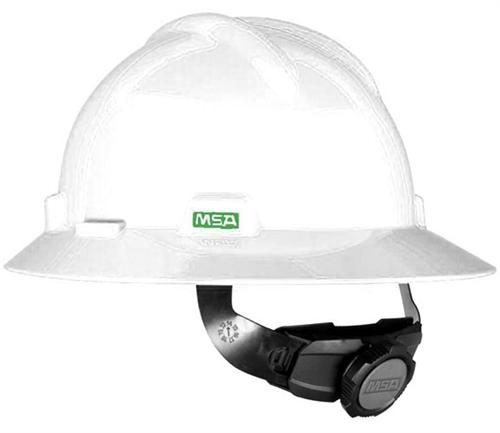 a339f13b23f MSA V-Gard Full Brim Hard Hat - White