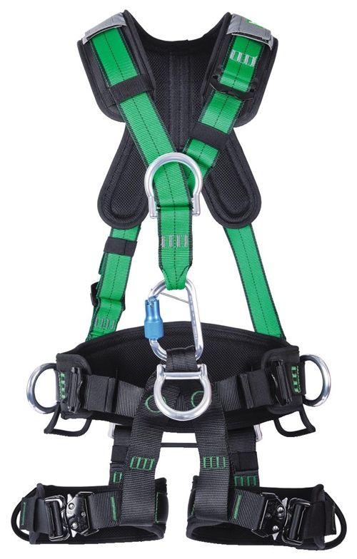 MSA Gravity Suspension Harness, Aluminum Back, Front, Ventral & Hip