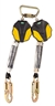 MSA 6' Workman Mini Personal Fall Limiter, Twin Leg, 36C Snaphook, ANSI