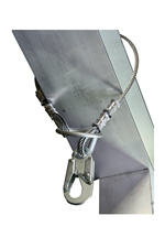"Guardian Galvanized Cable Choker Anchor with 3"" O-Ring & Snap Hook Ends - 4' 