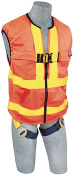 Delta Vest Hi-Vis Reflective Workvest Style Harness - Orange - Small | 1111579