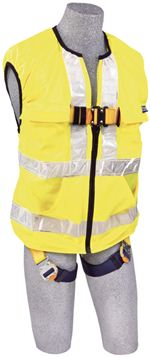 Delta Vest Hi-Vis Reflective Workvest Style Harness - Yellow - Small | 1111583