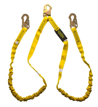 11202 Shock Absorbing Lanyard - double leg - by Guardian Fall Protection