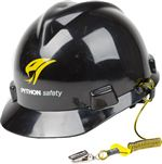 Python Safety Hard Hat Coil Tether - 10 Pack | 1500061