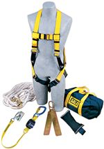 DBI-SALA Roofer's Fall Protection Kit - Hinged Anchor | 2104169