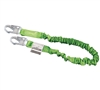Manyard II Stretchable Shock-Absorbing Lanyards With 6' Stretchable Web Lanyard, 2 Locking Snap Hooks | 216M-Z7/6FTGN
