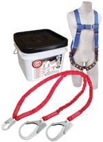 Compliance in a Can Light Roofer's Fall Protection Kit with Double-Leg Shock Absorbing Lanyard | 2199817