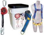 Compliance in a Can Light Roofer's Fall Protection Kit with Self Retracting Lifeline - In a Bucket | 2199819
