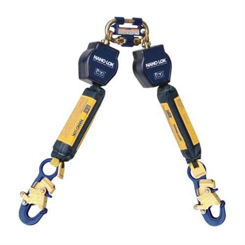DBI SALA Retractable Lanyard   6 Ft. Nano Lok Twin Leg SRL With Quick