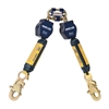 DBI SALA Retractable Lanyard - 6 ft. Nano-Lok Twin Leg SRL with Quick Connector 3101279