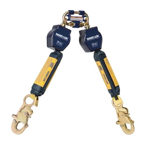 Dbi sala retractable lanyard 3101279 nano lok twin leg srl for Sala safety harness