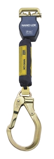 Nano-Lok Quick Connect Self Retracting Lifeline with Steel Locking Rebar Hook - Web | 3101344