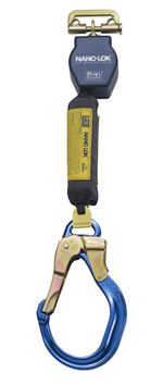 Nano-Lok Quick Connect Self Retracting Lifeline with Aluminum Locking Rebar Hook - Web | 3101468