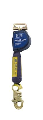 Nano-Lok Extended Length Quick Connect Self Retracting Lifeline with Steel Snap Hook - Web | 3101581