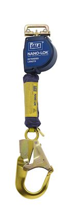 Nano-Lok Extended Length Quick Connect Self Retracting Lifeline with Aluminum Rebar Hook - Web | 3101590