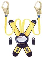 Talon Twin-Leg Tie-Back Quick Connect Self Retracting Lifeline with Steel Rebar Hooks - Web - 7.5 ft. | 3102101