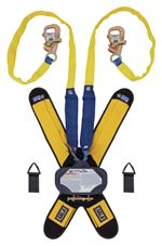 Talon Twin-Leg Tie-Back Quick Connect Self Retracting Lifeline with Tie-Back Hooks - Web - 7.5 ft. | 3102115