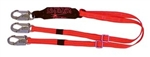 Adjustable Double Shock Absorbing Lanyard - 4' to 6' - 3251-D, 3M Fall Protection