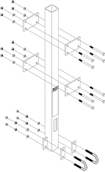 Lad-Saf Bottom Bracket for Ladder Mast/Post