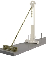 SecuraSpan Rebar/Shear Stud HLL Tie-Back Base with Chain | 7400214