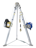 Advanced Tripod, Salalift II Winch and Sealed-Blok 3-Way SRL with Leg Mount Pulley | 8301044