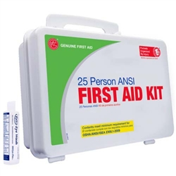 25 person Plastic ANSI first aid Kit | Genuine First Aid Kit